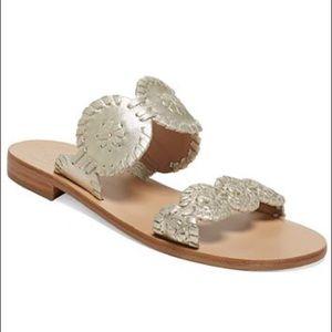 Jack Rogers Lauren sandals in platinum